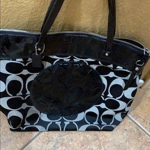 Authentic black coach purse tote